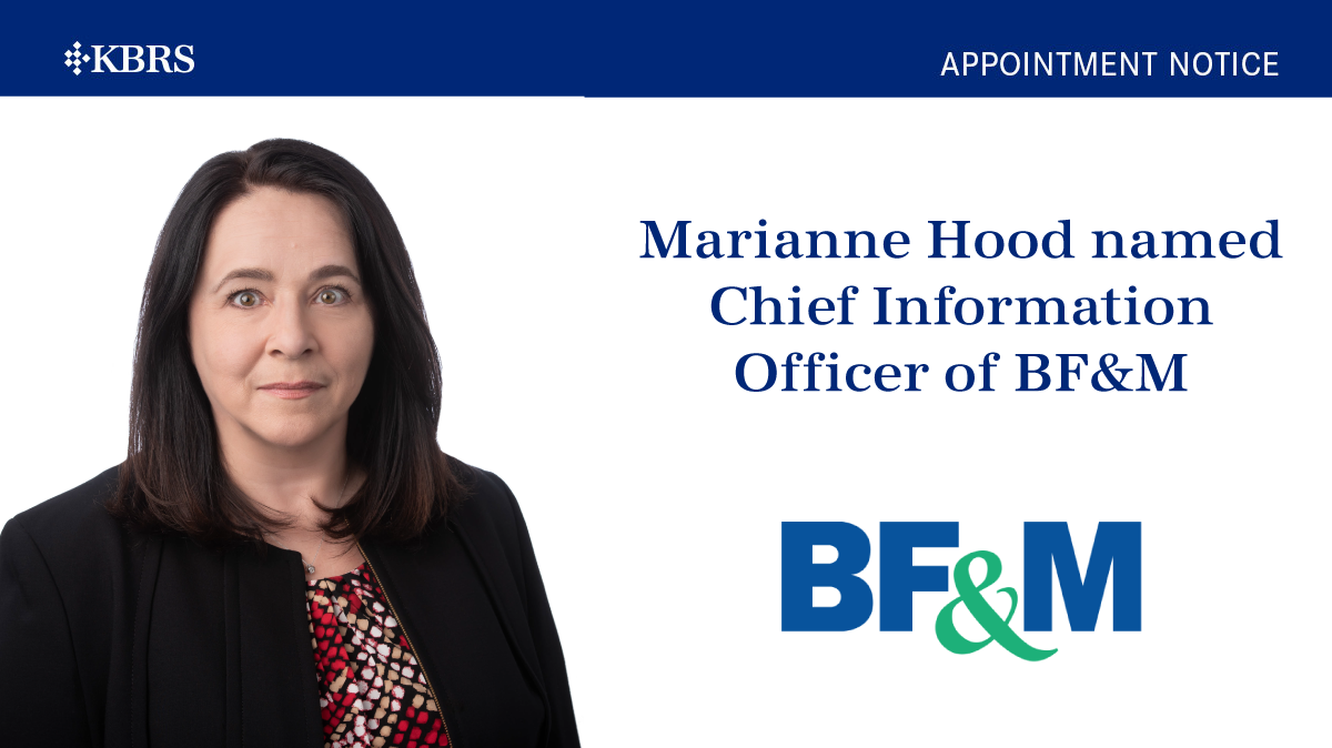 Marianne Hood appointed as Chief Information Officer of BF&M