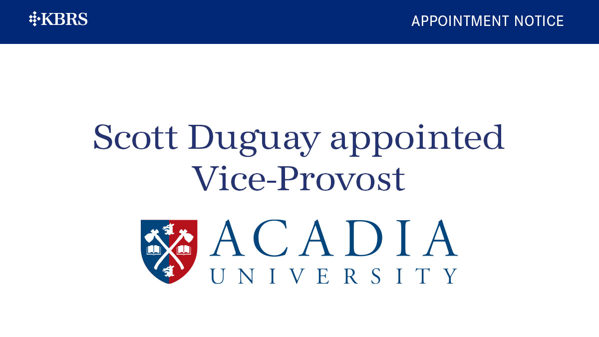 Acadia Appoints Vice-Provost