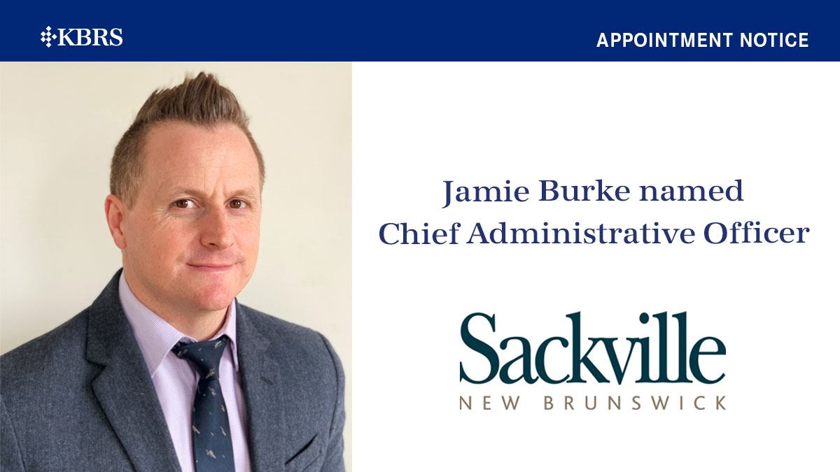 Jamie Burke named Town of Sackville CAO