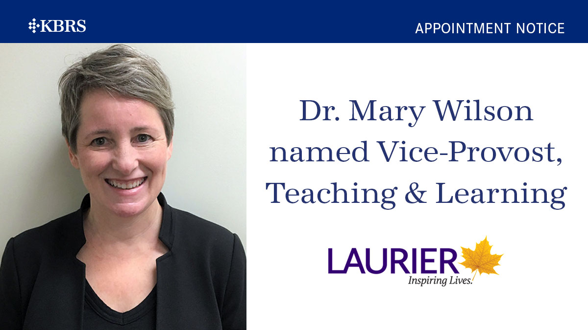 Dr. Mary Wilson named Vice Provost, Teaching and Learning