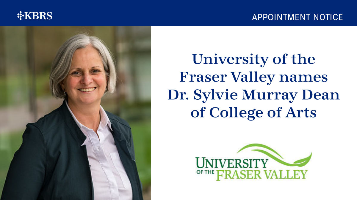 University of the Fraser Valley names Dr. Sylvie Murray Dean of College of Arts