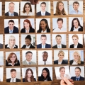 Many different pictures of diverse people